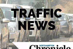 Major delays are being felt on the M1 in Northamptonshire.