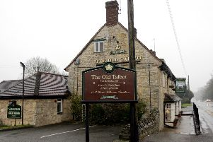 The Old Talbot in Potterspury where the attack took place