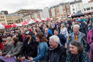 Some of the crowds at Northampton Music Festival 2019. Photo: Dave Jackson