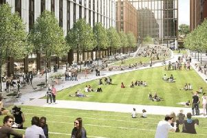 Proposals in the town centre masterplan include a park on the site of the former Greyfriars bus station