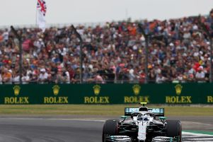 Valtteri Bottas on his way to claiming pole