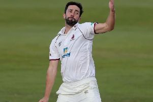 Ben Sanderson took five wickets in Derbyshire's first innings