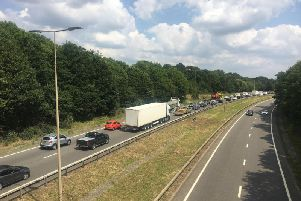 The A45 reopened at 5pm today (Tuesday)