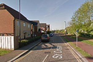 The incident was on St Crispin Drive, Northampton. Photo: Google