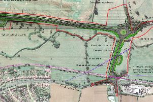 The latest plan for how the North-West Relief Road would look. Photo: Northamptonshire County Council
