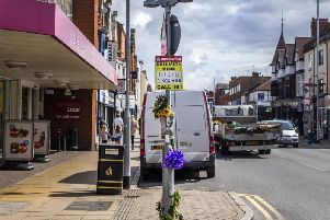 Flowers have been left at the scene of a fatal incident which took place on Saturday night in Wellingborough Road. Picture: Kirsty Edmonds.