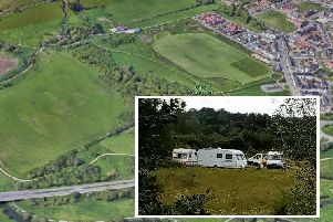 An encampment of travellers has reportedly been spotted on Upton Country Park today.