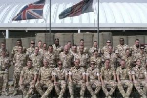 Operation Telic in Iraq, circa 2007. Marc Gausden is furthest to the left in the back row