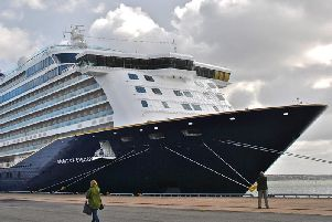 Saga's new Spirit of Discovery at her berth in Stockholm