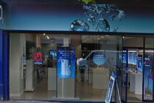 Library picture of the O2 shop. This is not a screenshot of the social media post