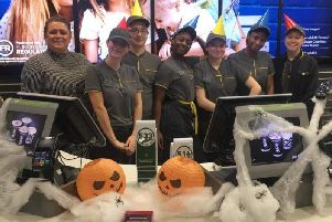 McDonald's restaurants in Northampton and Wellingborough got into the Halloween spirit to raise money for charity
