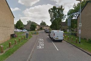 The man was assaulted on Harefield Road, Northampton. Photo: Google