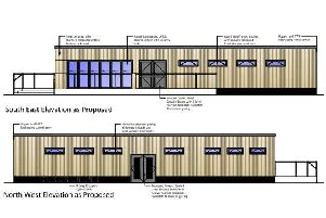 The clubhouse will have two changing rooms, showers and a small kitchen and bar.