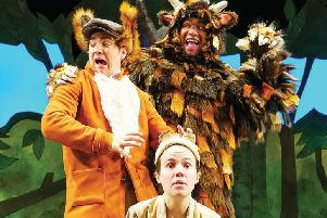 The hard-working cast of The Gruffalo