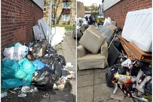 The flytipping dump in Ash Street has proven too big to be taken away in one job.