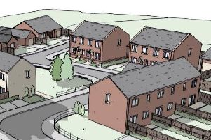 An artist's impression of how the new housing estate would look