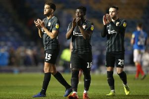 Jay Williams and Matty Warburton were handed much-needed minutes at Fratton Park, while teenager Michael Harding made his senior debut. Picture: Pete Norton