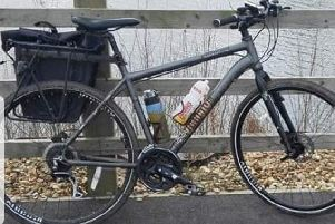 Luke Barker's bicycle that was stolen four years after riding it from John O'Groats to Lands End in memory of his stillborn daughter Jasmine