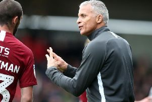 Keith Curle and Michael Harriman