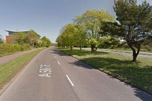 Dorin Gutuleac was seen 'swerving' and crashing into 'street furniture' on Red House Road, Moulton Park. Photo: Google