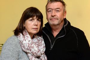 Rob Johnson with his partner Trudy Thornton, who had to drive him to the Horton from Woodford Halse