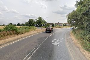 The fatal crash was on the bend on the A508 on the northern outskirts of Roade, Northamptonshire. Photo: Google