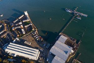 The site on Southampton Water of Fairline Yacht's new manufacturing centre.