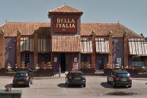The family had to go to hospital after the attack outside Bella Italia, Sixfields.