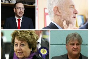 Clockwise from left: Andrew Gwynne, Jeremy Corbyn, Chris Stanbra and Margot Parker