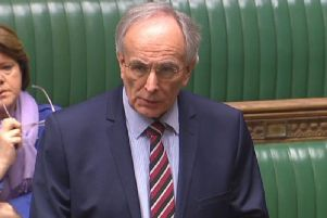 Peter Bone MP addresses the House of Commons
