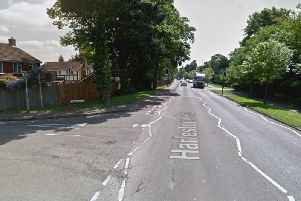 The man was hit on Harlestone Road, near the junction with Corran Close. (Picture: Google)