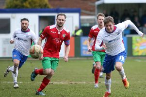 Ben Diamond missed AFC Rushden & Diamonds' midweek success over Thame United and is doubtful for this weekend's trip to Barton Rovers