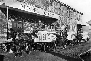 Delivering your milk with style, the Kettering Co-op Model Dairy in the early 1900s
