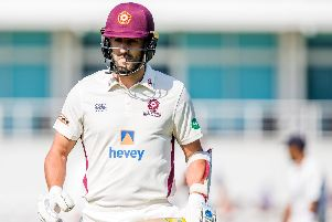 Ben Sanderson hit an important 36 for Northants on the first day against Sussex (picture: Kirsty Edmonds)