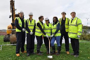 The ground breaking ceremony for the new ACE centre.