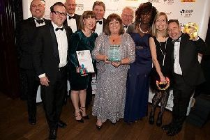 The Chamber team celebrating success at awards last year.