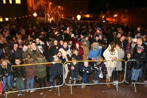 The Christmas lights switch-on in Wellingborough in 2016