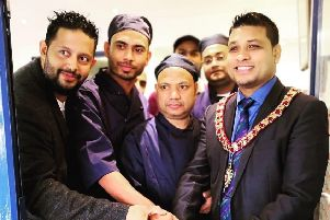 The official opening of Simply Indian in Corby