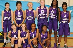 The Titans Under-14 girls who enjoyed a comfortable 81-36 win over their local rivals Northants Lightning II