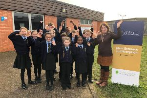 Pupils and teachers at St Peter's CE Academy are celebrating their good rating