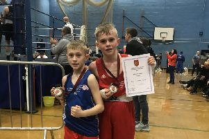 Kettering ABC boxers Braydon and Connor Henderson won titles at the National Schoolboy Championships