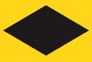Drivers are urged to follow the solid diamond symbol