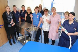 The Fracture Clinic team in its new premises