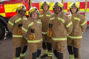 Going for gold: Northamptonshire firefighters get bright new uniform