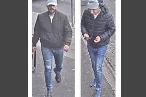 Police have released pictures of two men