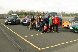 Corby pupils get high-powered motorsport lesson