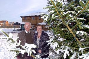 With Cathy Langtree to promote the light up a life service in 2009