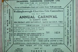 Wellingborough carnival raffle ticket from 1965 is a blast from the past