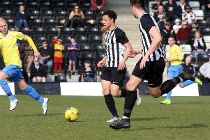 Northampton Town youngster Camron McWilliams has been in fine form for Corby Town during his loan stint at Steel Park. Picture by Alison Bagley