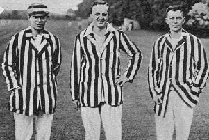 The Denton brothers  Jack, Don and Billy  taken in 1919 after Don had been wounded in the war and the younger twins had both been POWs.